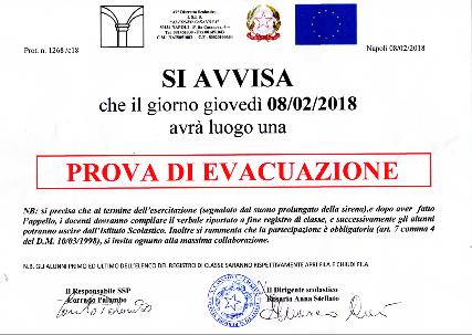 PROVA DI EVACUAZIONE 08/02/2018
