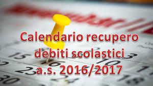 Calendario inizio a. s. 2017/2018: adempimenti esami giudizi sospesi, esami integrativi di idoneità. Calendario verifiche