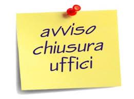CHIUSURA AL PUBBLICO UFFICI SEGRETERIA 23/07/2018